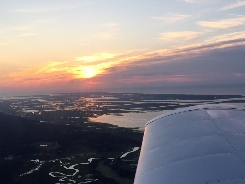 The sunrise over the SC Lowcountry