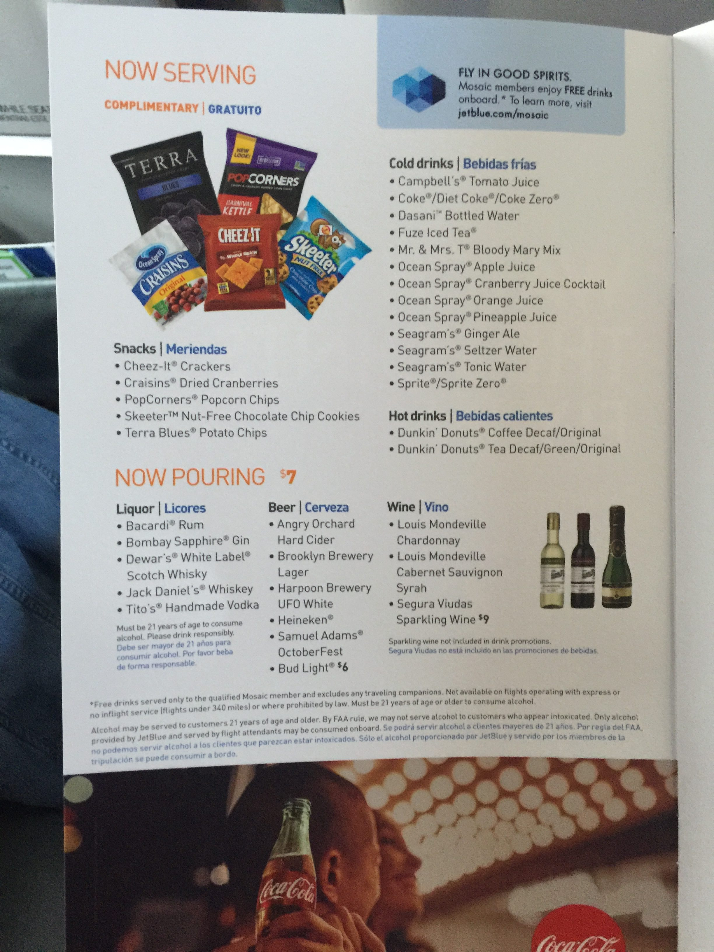 These are the snacks offered in the basket during flight. Yummy!